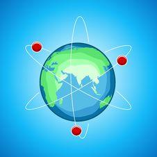 Free Atom Globe Stock Photos - 18375593