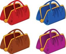 Free Color Handbags Royalty Free Stock Image - 18375686