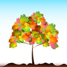 Free Colorful Tree Royalty Free Stock Photos - 18375728