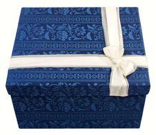 Free Blue Gift Box Stock Photo - 18376170