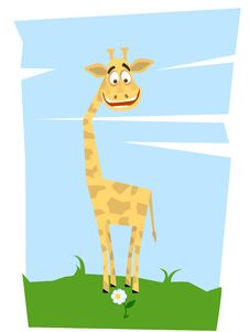 Giraffe And A Flower Royalty Free Stock Photography