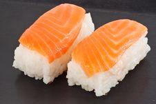 Free Salmon Sushi Royalty Free Stock Photo - 18377665