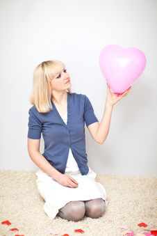 Free Young Adult Holding Big Heart In Her Hand Stock Image - 18377941