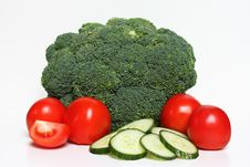 Free Fresh Vegetables On White Royalty Free Stock Photography - 18378367