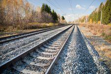 Free Railroad Tracks Royalty Free Stock Photo - 18378645