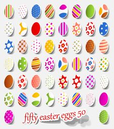 Free Fifty Easter Eggs Stock Image - 18378661