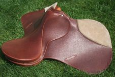 Free New English Saddle Made In Argentina Royalty Free Stock Photography - 18378727