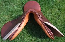 New English Saddle - Gullet Of The Saddle Stock Photo