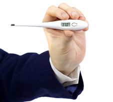 Electronic Thermometer Royalty Free Stock Photos