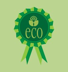 Ecological Emblem Stock Image