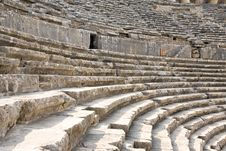 Ancient Roman Amphitheater Aspendos. Stock Photos