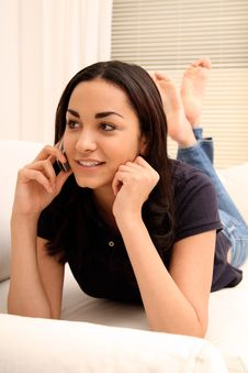 Free Woman On The Phone Stock Image - 18379471