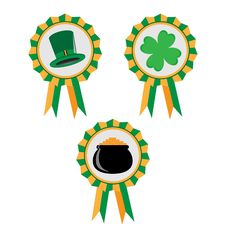 Free St. Patrick S Day, Set Of Banners. Royalty Free Stock Photography - 18379487