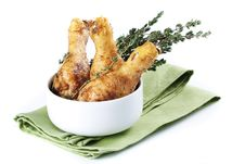 Free Roasted Chicken Legs With Thyme Royalty Free Stock Photo - 18379495