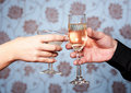 Free Hands With Glasses Of Vine And Martini Stock Image - 18387661