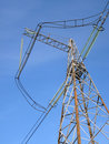 Free Power Lines Against The  Blue Sky Royalty Free Stock Images - 18389759