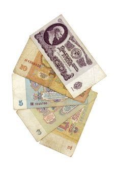 Old Soviet Russian Money Royalty Free Stock Photography