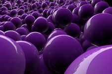 Free Abstract 3d Purple Spheres Stock Photography - 18380802