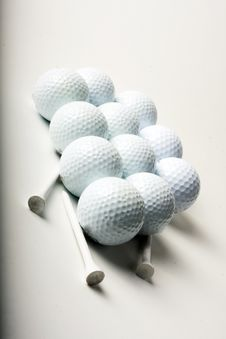 Free Golf Balls And Tees Stock Photo - 18381280