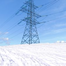 Free Transmission Line Support Royalty Free Stock Photos - 18381328