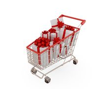 Free Shopping Trolley Royalty Free Stock Photo - 18382015