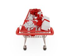 Free Shopping Trolley Stock Image - 18382021