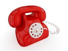 Free Cartoon Retro Telephone. Royalty Free Stock Photos - 18382068