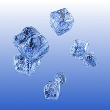 Free Ice Cube Background. Royalty Free Stock Photo - 18382145