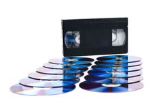 CDs And VHS Stock Photography