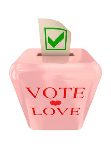 Free Vote Love Concept. Royalty Free Stock Photo - 18382165