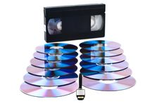 Free USB, CD And VHS. Royalty Free Stock Image - 18382186