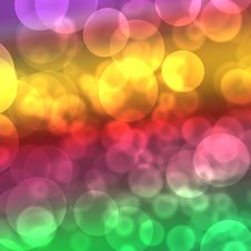 Free Colorful Bokeh Background Royalty Free Stock Photography - 18382297