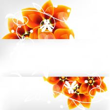 Free Flower Background With A Banner Royalty Free Stock Photos - 18382978