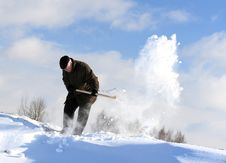 Free Manual Snow Removal Royalty Free Stock Photos - 18383328