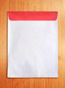 Free Old Document Envelope On Wood Background Stock Image - 18383391