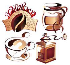Free Big SET Of Vector Coffee,tea Elements Stock Images - 18383484