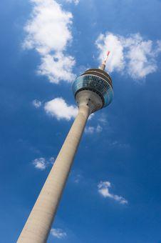 Free Rheinturm Tower Dusseldorf Royalty Free Stock Photography - 18383547