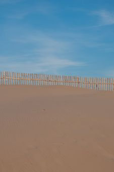 Landscape Of The Beach With Its Sand Dunes Stock Photos