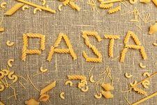 Free Pasta Stock Image - 18385281
