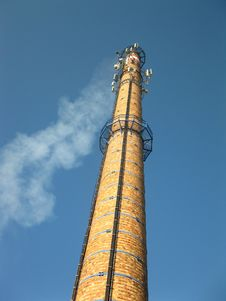 Old Brick Chimney Royalty Free Stock Photo