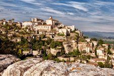 Free Provence Village Gordes Overlook Royalty Free Stock Image - 18387146