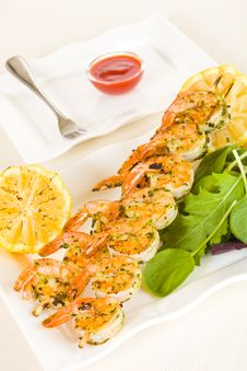 Free Shrimp Meal Stock Image - 18387171