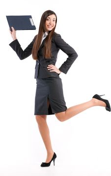 Free Portrait Of Girl In Business Suit Stock Photography - 18387632