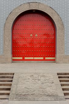 Free Chinese Red Gate Royalty Free Stock Image - 18388036
