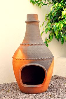 Free Clay Chimney From Mexico Royalty Free Stock Image - 18388136