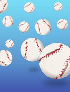 Free Baseballs Bouncing Stock Photos - 18388173