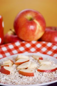 Cereals With Apples Stock Image