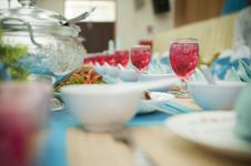 Free Dining Table In Bokeh Royalty Free Stock Photos - 18389068