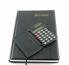 Free Diary And Calculator Royalty Free Stock Photo - 18389135