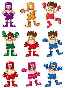 Free Cartoon Boxer Icon Royalty Free Stock Image - 18389506